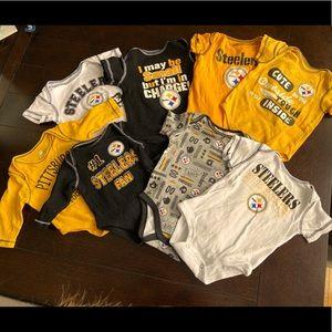 Pittsburgh Steeler Onesie Baby Bundle Various Size